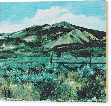 Kennedy Peak In Wyoming Wood Print