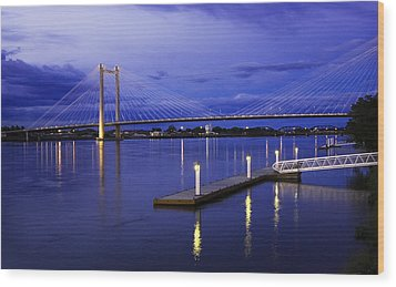 Wood Print featuring the photograph Kennewick Bridge 2 by Sonya Lang