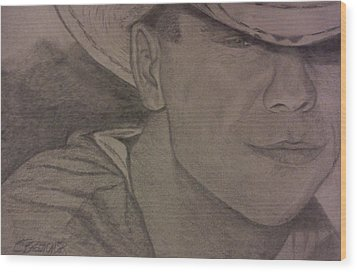 Kenny Chesney Wood Print by Christy Saunders Church