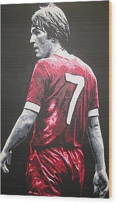 Kenny Dalglish - Liverpool Fc 2 Wood Print