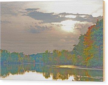 Kensington Autumn Sunset Wood Print