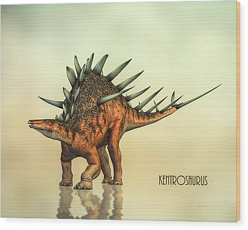 Kentrosaurus Dinosaur Wood Print by Bob Orsillo