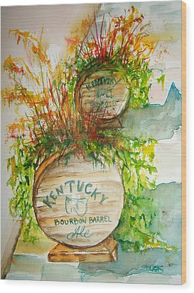 Kentucky Bourbon Barrels Wood Print