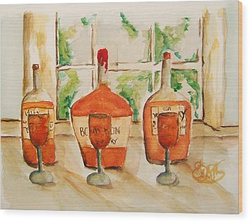 Kentucky Bourbon Sampler Wood Print