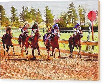 Kentucky Derby Wood Print