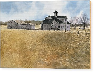 Kentucky Farm Wood Print