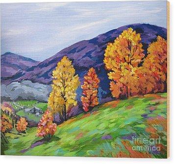 Kentucky Hillside Wood Print
