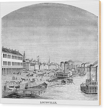 Wood Print featuring the painting Kentucky Louisville, 1870 by Granger