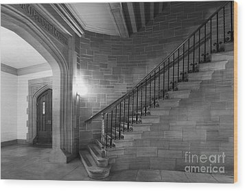 Kenyon College Peirce Stairway Wood Print by University Icons