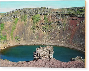 Kerio Crater Lake Wood Print