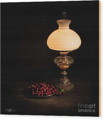 Kerosene Lamp Wood Print
