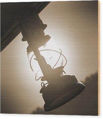 Kerosene Lantern Wood Print by Mike McGlothlen