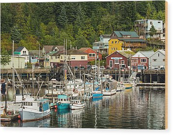 Ketchikan Harbor Wood Print