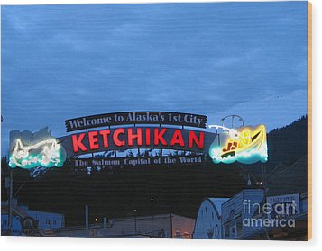 Ketchikan Wood Print by Robert Bales