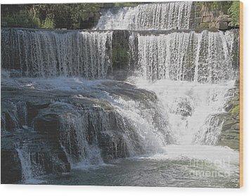 Keuka Seneca Waterfall Wood Print by William Norton