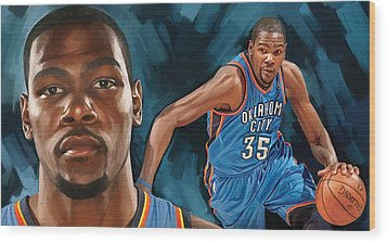 Kevin Durant Artwork Wood Print by Sheraz A