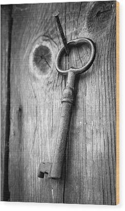 Key  Wood Print by Robert Hellstrom