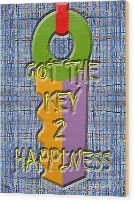 Key To Happiness Wood Print by Patrick J Murphy