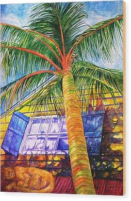 Key West Cat On A Hot Tin Roof Wood Print