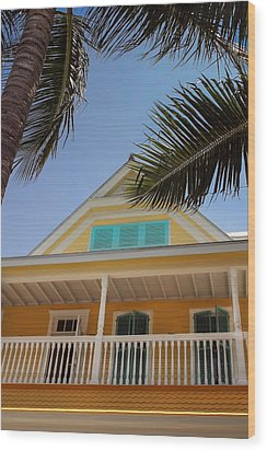 Wood Print featuring the photograph Key West House by Glenn DiPaola