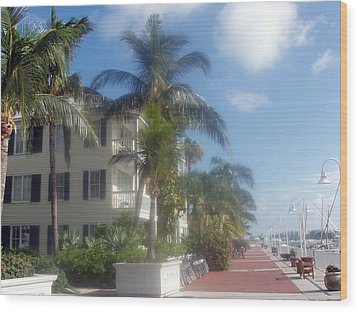Wood Print featuring the photograph Key West In Florida by Teresa Schomig