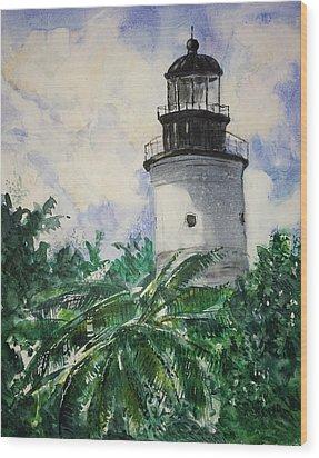 Key West Light Wood Print by Stephanie Sodel