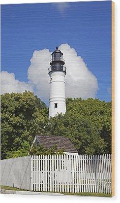 Key West Lighthouse Wood Print by John Stephens
