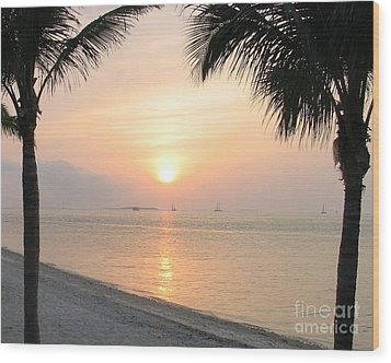 Wood Print featuring the photograph Key West Sunet by Shelia Kempf