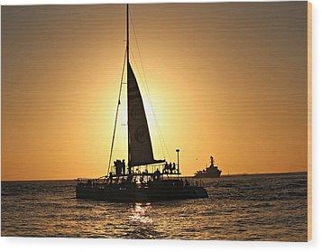 Key West Sunset Wood Print by Jo Sheehan