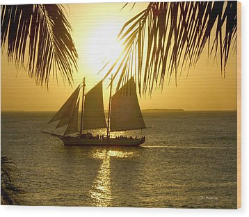 Wood Print featuring the photograph Key West Sunset by Joan  Minchak