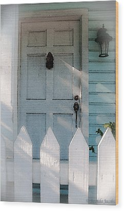Key West Welcome To My Home Wood Print by Brenda Jacobs