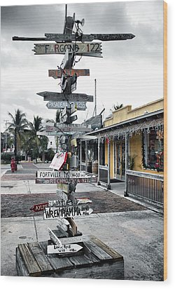 Key West Wharf Wood Print