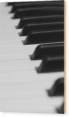Keyboard Wood Print by Svetlana Sewell
