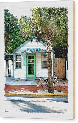 Keys House And Bike Wood Print