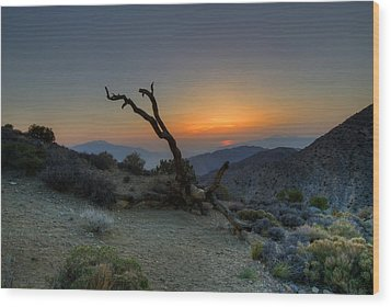 Keys View Sunset Wood Print