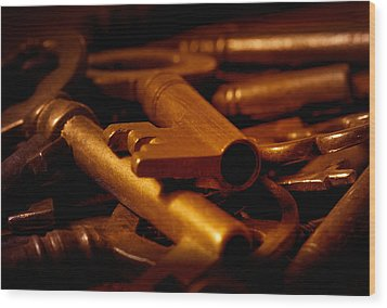 Wood Print featuring the photograph Keys by WB Johnston