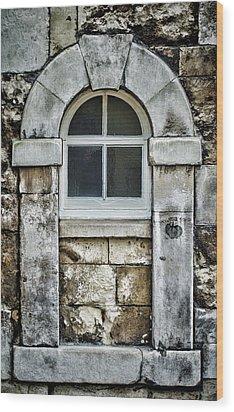 Keystone Window Wood Print by Heather Applegate
