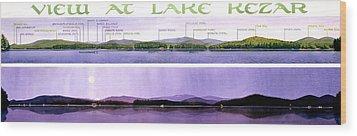 Kezar Lake View Wood Print by Mary Helmreich