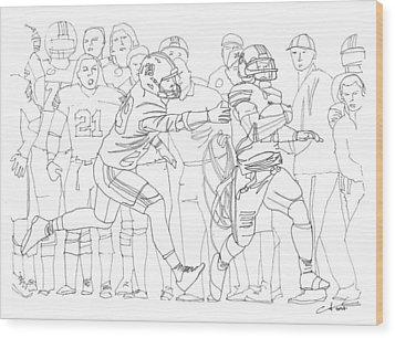 Kick Six Wood Print by Calvin Durham