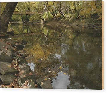 Kickapoo Creek Bridge Wood Print