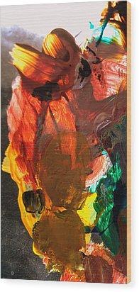 Wood Print featuring the digital art Kid Passenger by Christine Ricker Brandt