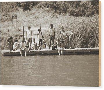 Wood Print featuring the photograph Kids At Lake Chabot by Hiroko Sakai