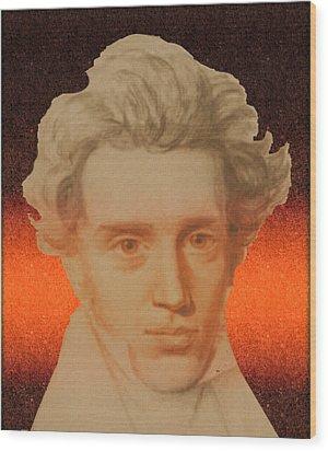 Kierkegaard Wood Print
