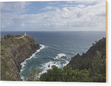 Kilauea Lighthouse - Kauai Hawaii Wood Print by Brian Harig