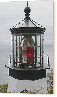 Kilauea Lighthouse Wood Print by Peter French