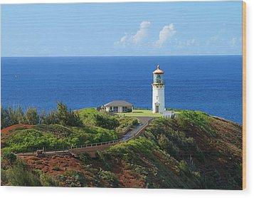 Kilauea Lighthouse Wood Print by Shahak Nagiel