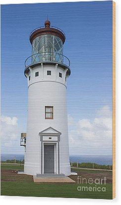 Wood Print featuring the photograph Kilauea Lighthouse by Suzanne Luft
