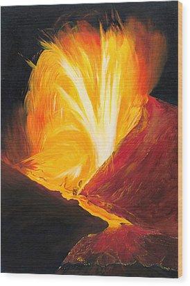 Kilauea Volcano In Hawaii Wood Print by Phillip Compton
