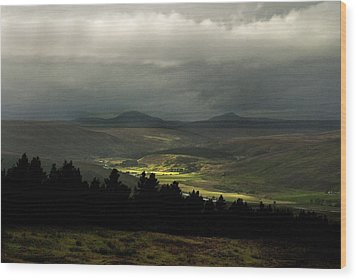 Wood Print featuring the photograph Kildonan Strath Northern Highlands Of Scotland by Sally Ross