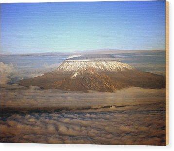 Kilimanjaro Wood Print by Tuntufye Abel